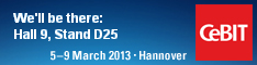 CeBiT2013 stand banner